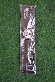 Verkaufe schwarz-silberne Armbanduhr von Eiger