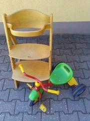 Kindersitz und Tretroller
