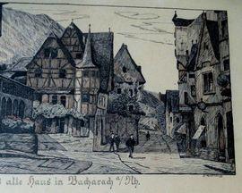 2 x Bacharach Altes Haus: Kleinanzeigen aus Limburg Limburg an der Lahn - Rubrik Kunst, Gemälde, Plastik