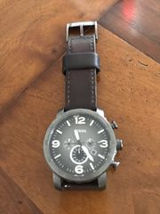 Fossil Herren Uhr Lederband braun