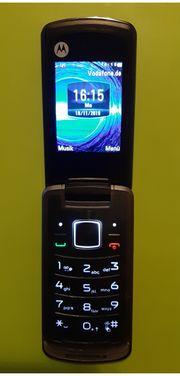 Klapphandy Motorola GLEAM antrazit schwarz