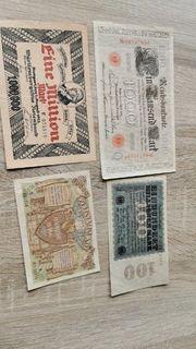 Geldscheine von Anfang 1900