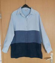 Bluse dreifarbig blau Gr 40
