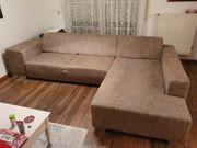 Ecksofa Couch mit robustem Stoffbezug