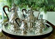 Großes Kaffee- Teeservice 800 Silber