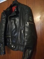 Old-school original Harro Motorradlederjacke mit