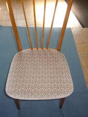 3 Stühle Sitzfläche mit Velourbezug