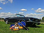 Hochzeitsfahrt Hochzeitsauto im Ford Mustang