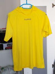 Shirt gelb mit Aufdruck Gr