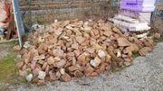 Sandsteine Haufen für Beet Mauer