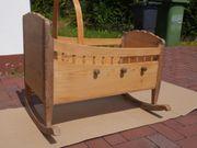 Baby-Wiege antik aus Holz Fichte