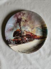 Eisenbahn Wandteller 21cm Durchmesser
