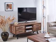 TV-Möbel dunkler Holzfarbton ATLANTA neu -