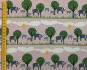 Stoff Stoffpaket Elefanten rosa