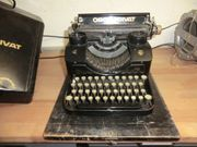 Antike Schreibmaschine Marke Orga Privat