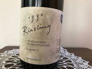 Magnumflasche Jahrgangswein Riesling 1990 ungeöffnet
