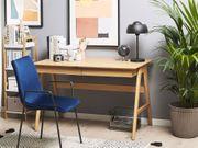Schreibtisch heller Holzfarbton 120 x
