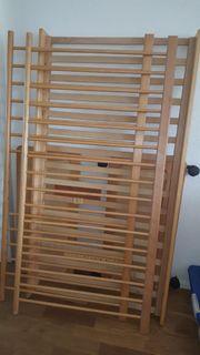Kinderbett Babybett mit Gitter Holz