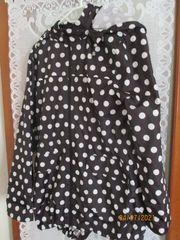 Damen Regenjacke schwarz mit weißen