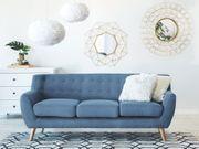 3-Sitzer Sofa Polsterbezug blau MOTALA neu