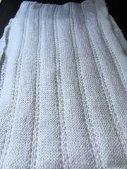 loopschal weiß strick