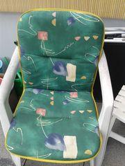 Gartenstühle 4 Stück mit Sitzauflagen