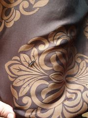 Bettüberwurf Braun Kupfer Ornament inkl