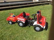 Feuerwehr Tretauto mit Anhänger