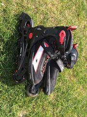Inlineskates Gr 33-36 verstellbar schwarz-rot