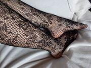 Nylon Strumfhose Socken getragen nur