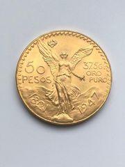 50 Pesos 1947 Goldmünze Mexiko