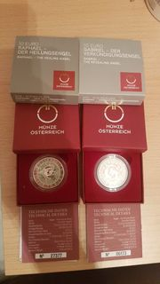 10 Silbermünze Serie Engels-Münzen Inkl