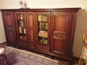 Wohnzimmerschrank Bücherschrank Holz massiv