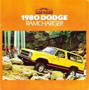 1980 DODGE Ramcharger Sales Brochure -
