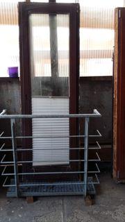 Balkontüre aus Merantiholz zu verkaufen