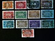 Briefmarken Deutsches Reich Inflation