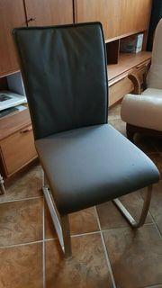 Hochwertige unbenutze Stühle Esszimmer grau