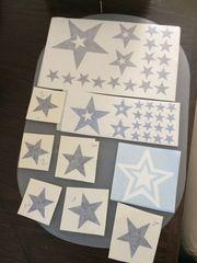 Deko-Aufkleber Sterne schwarz 1x weiß
