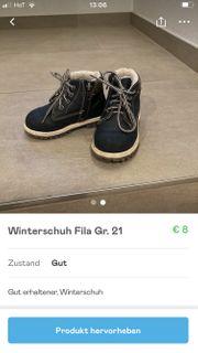Winterschuh Fila Gr 21