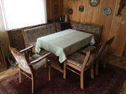 Eckbank mit Tisch Stühle Eiche