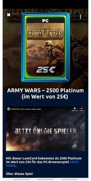 Army Wars PC 2500 Platinum