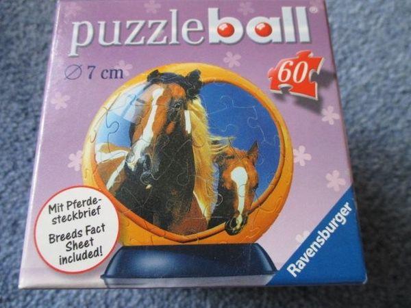 Puzzleball Ravensburger 60 Teile Pferde
