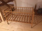 Holz-Babybett Front absenkbar