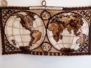Handgeknüpfter Wandteppich - Erdkugel BUDAH