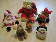 Plüschfiguren Weihnachten