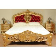Gold rokoko barock Bett mit