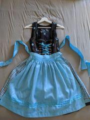 Dirndl braun-blau