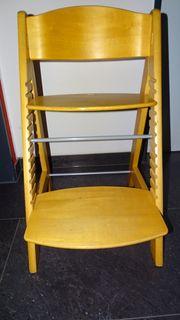Kindersitz Kinderhochsitz aus Holz verstellbar