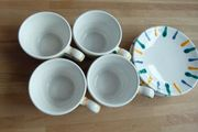 Gmundner Keramik Kaffeegeschirr BUNTGEFLAMMT 4