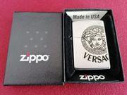 Zippo Versace Medusa Gorgona Grau